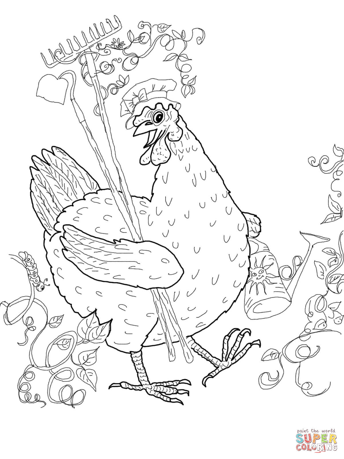 1200x1600 Draw Little Red Hen Coloring Pages 50 On Sheets With Little Red