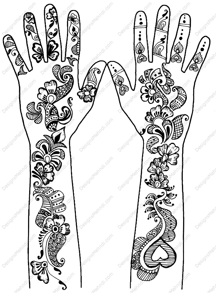 Henna Design Line Art : Henna design drawing at getdrawings free for