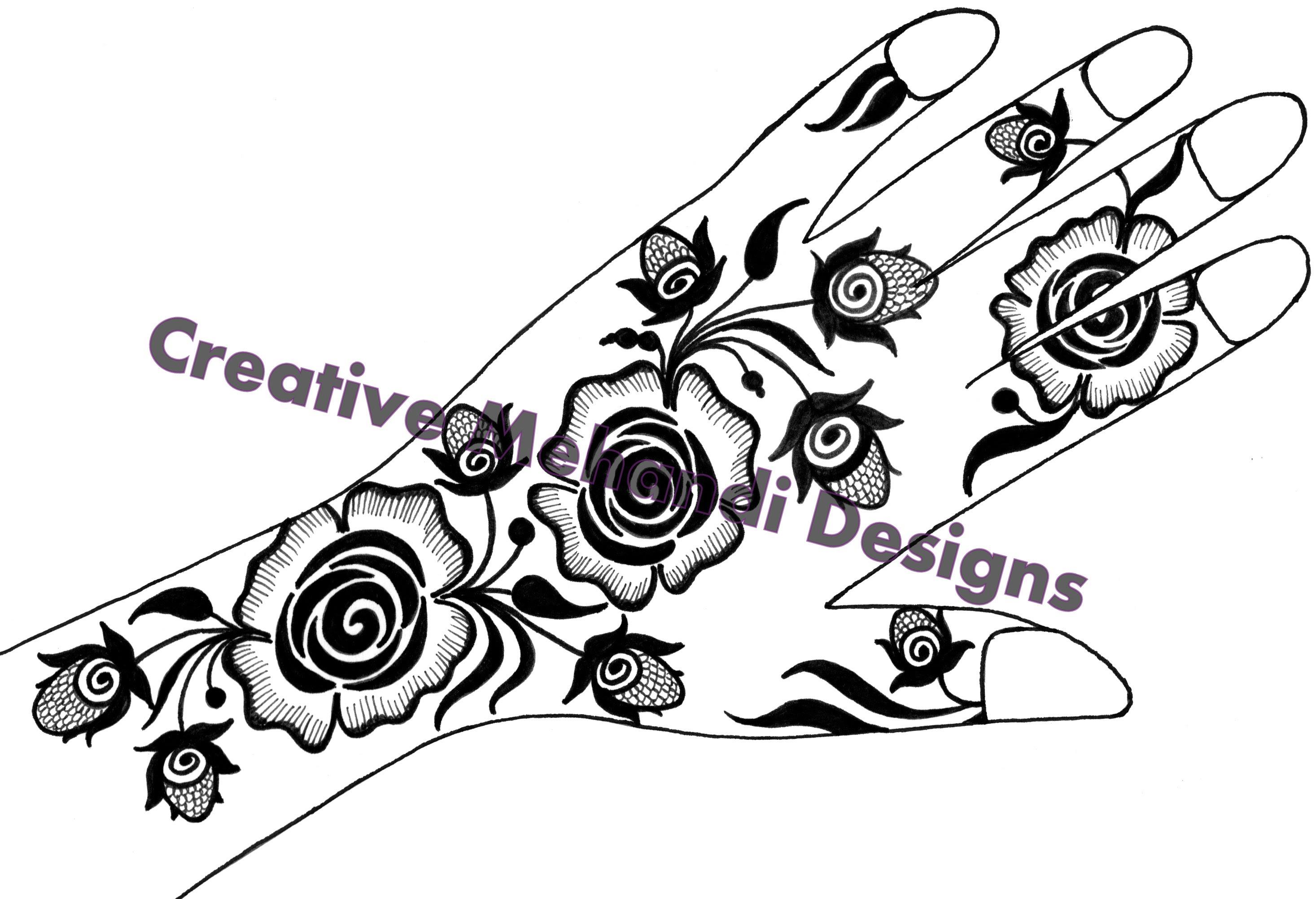 2933x2005 Henna Mehndi Sketches Drawings
