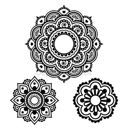 450x450 Henna Tattoo Stock Vectors, Royalty Free Henna Tattoo