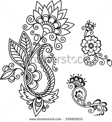 Henna Designs Drawing at GetDrawings.com | Free for personal use ...