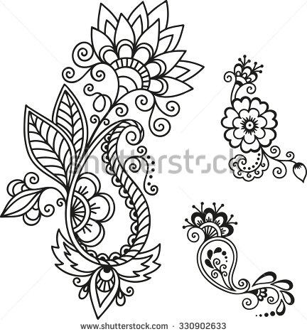 432x470 Henna Tattoo Flower Tattoos!!