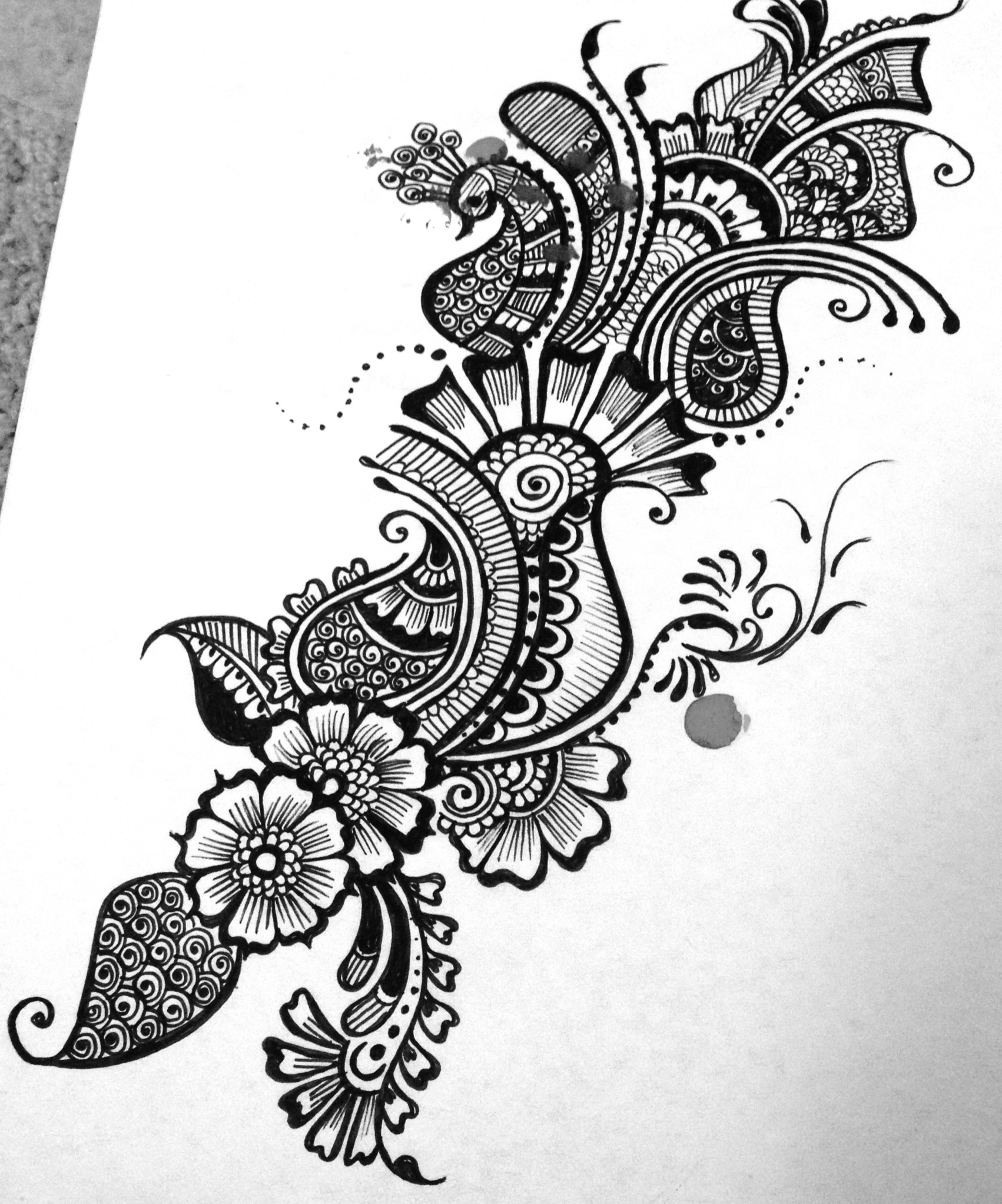 Mehndi Design Line Art : Henna designs drawing at getdrawings free for