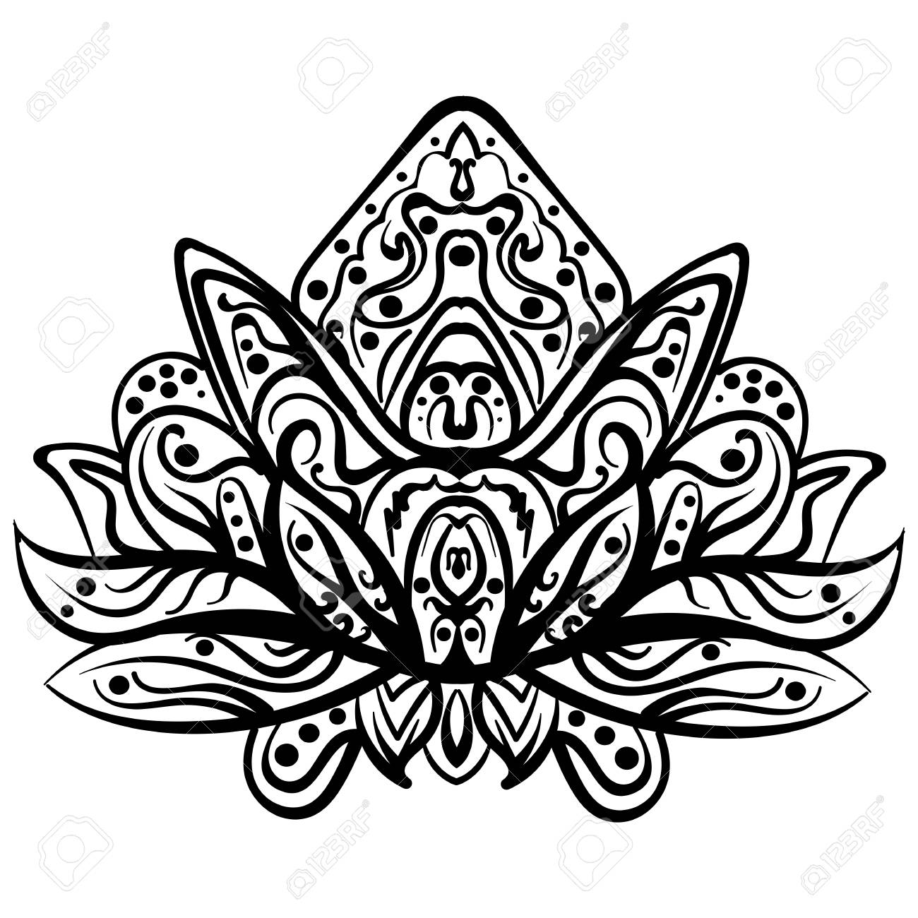 Henna designs drawing at getdrawings free for personal use 1300x1300 ornamental lotus ethnic henna tattoo patterned indian paisley izmirmasajfo Image collections