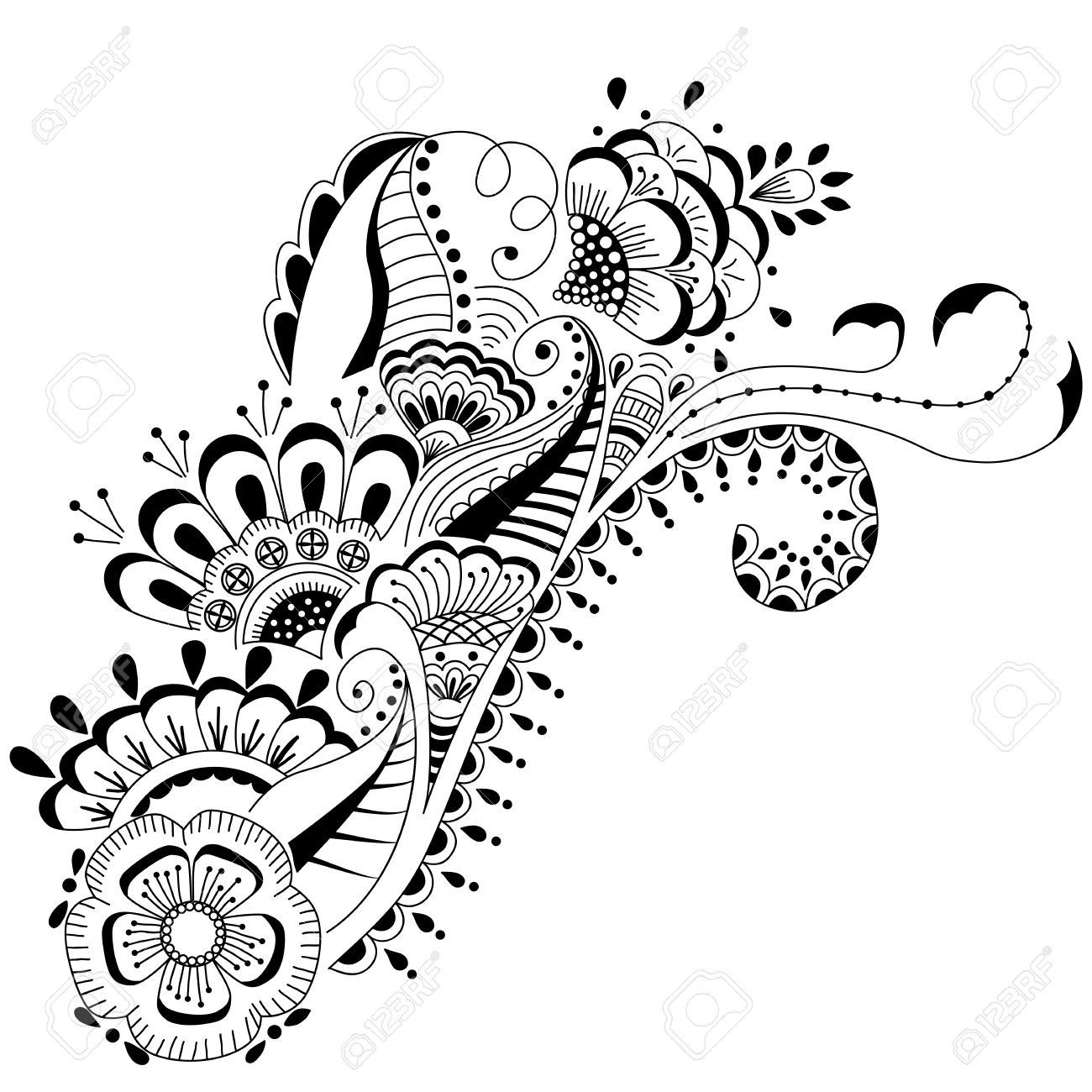 1300x1300 Mehndi Drawing Designs. Awesome How To Draw Henna Designs On Paper