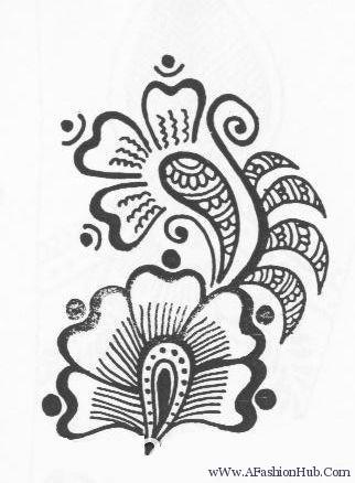 322x438 Arabic Henna Designs Drawings