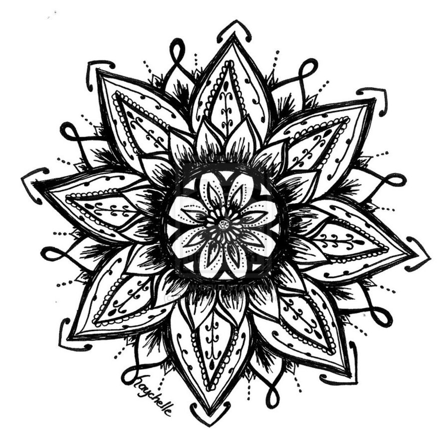 893x895 Drawings Of Henna Flowers