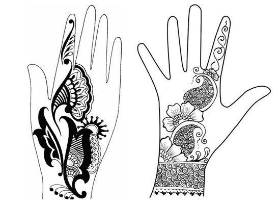 550x400 Drawn Mehndi Henna Design