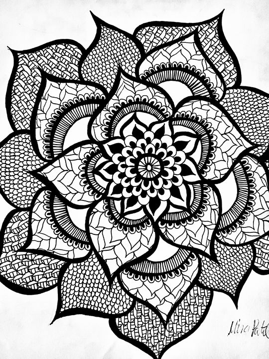 540x720 Front Facing Henna Flower