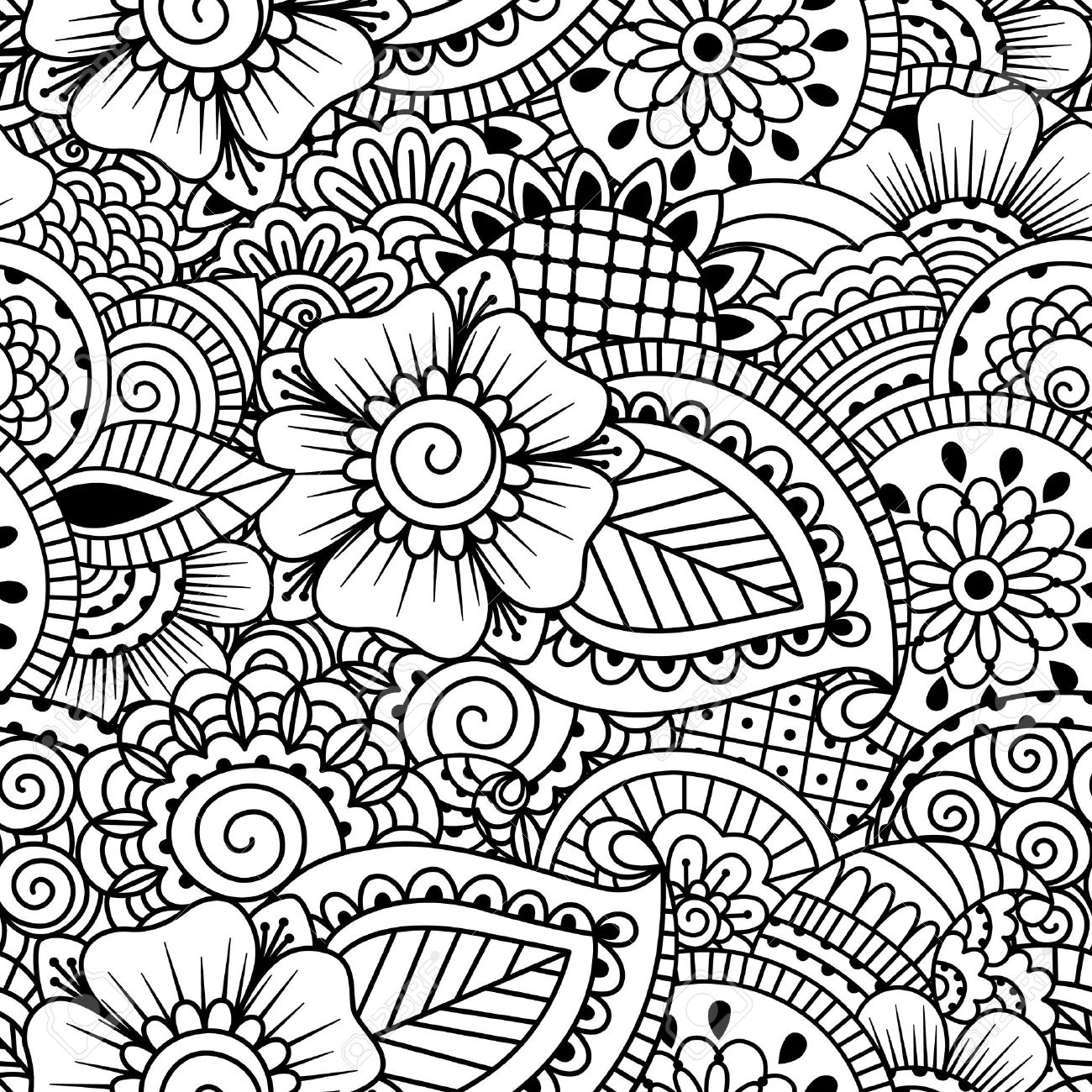 1300x1300 Henna Coloring Book Henna Inspired Coloring Book