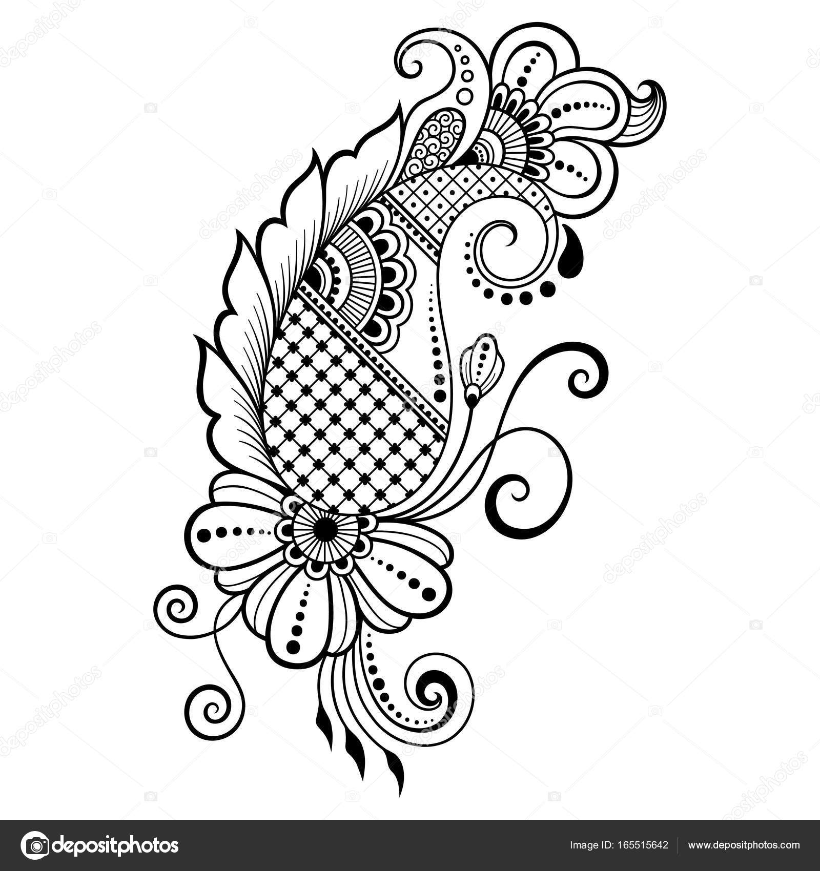 1600x1700 Henna Tattoo Flower Template. Mehndi Style. Set Of Ornamental