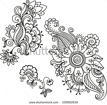 Henna Drawing at GetDrawings.com | Free for personal use Henna ...