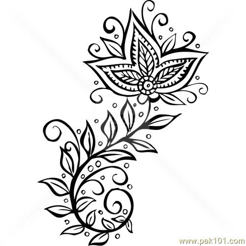 500x500 Simple Henna Designs Clipart