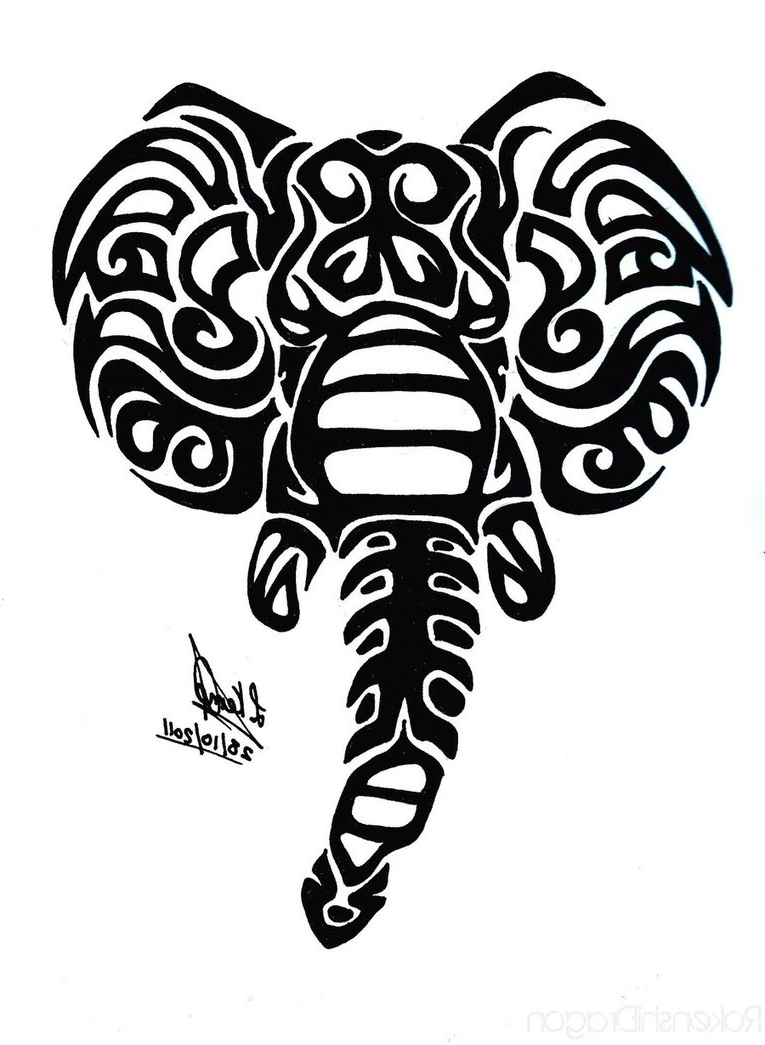 765x1045 Tribal Elephant Tattoo Designs Tribal Elephant Tattoo On Ankle