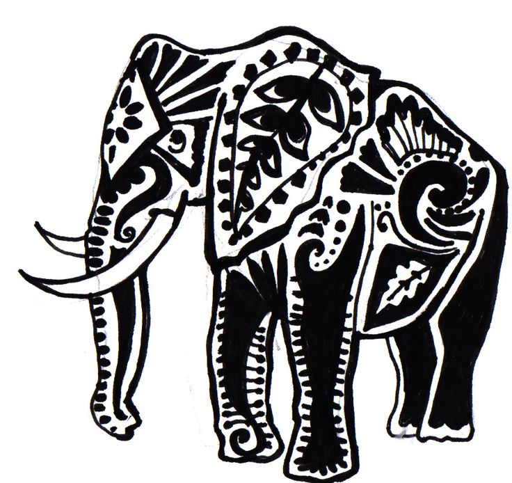 736x694 Tribal Elephant Tattoo Elephant Tattoo (Not Quite A Silhouette