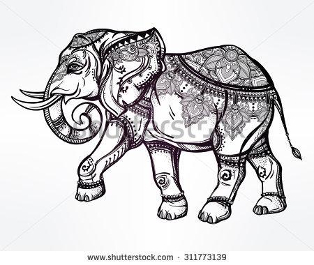 450x380 Drawn Elephant Thailand Elephant