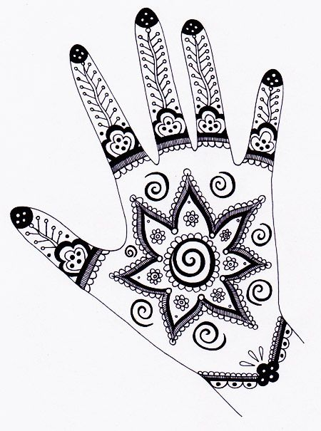 450x605 Great Site For Everything Art. How To Draw To Henna. All Beginner