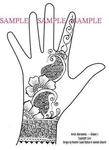 360x495 Henna Art Drawing Hand