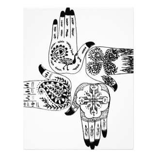 324x324 Henna Design Letterhead Zazzle