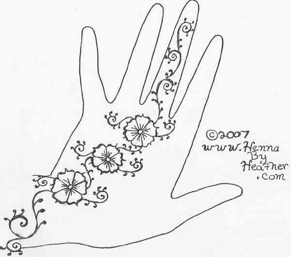 600x529 27 Cool Simple Mehndi Design Drawings