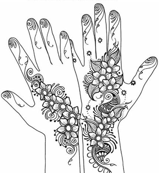 550x599 40 Best Eid Mehndi Designs Henna Patterns For Full Hands Feet 2012