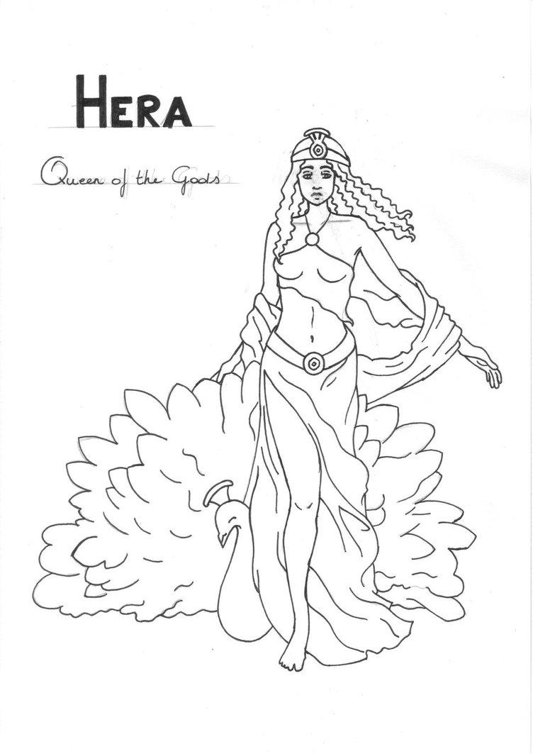752x1063 Hera Coloring Page Greek God Mythology Unit Study By Lilatelrunya