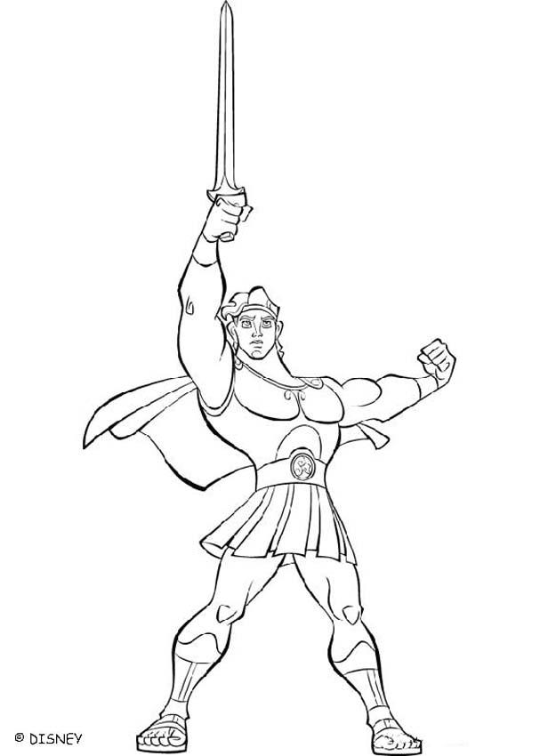 607x850 Hercules Coloring Pages, Drawing For Kids, Videos For Kids