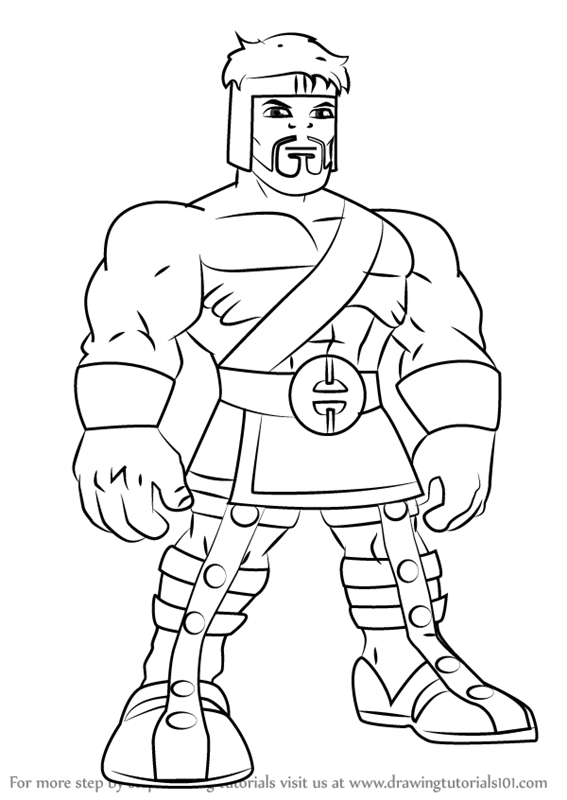 567x800 Learn How To Draw Hercules From The Super Hero Squad Show (The