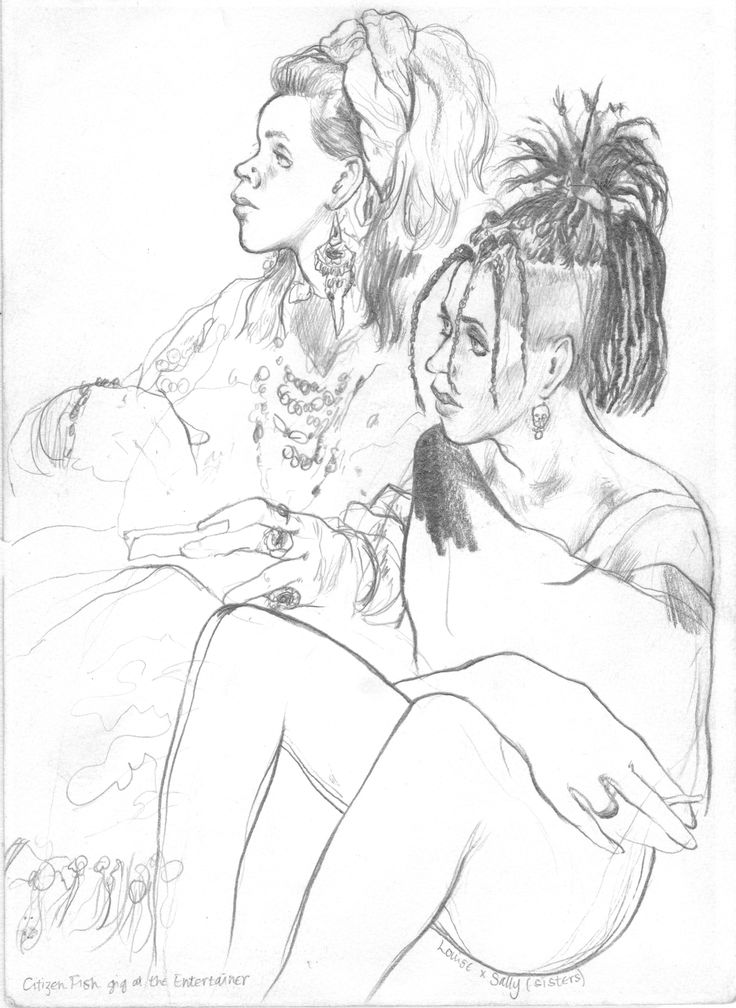 736x1008 Artist Enoch (Hereford) ~ Loius And Sally (Sisters)