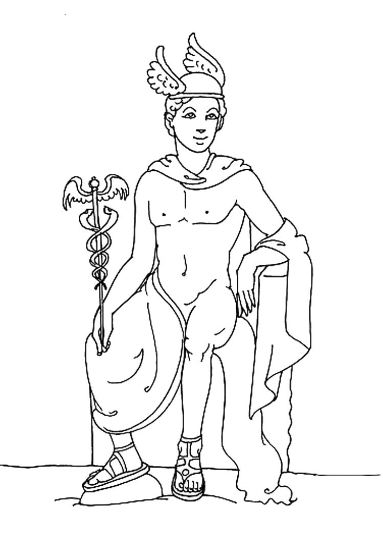 749x1060 God Hermes Coloring Pages