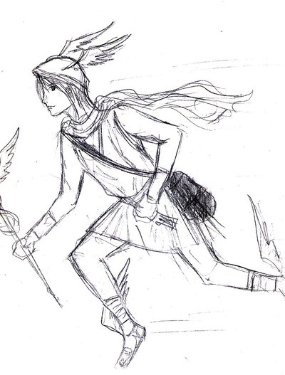400x527 Hermes Design Sketch By Silent Glory