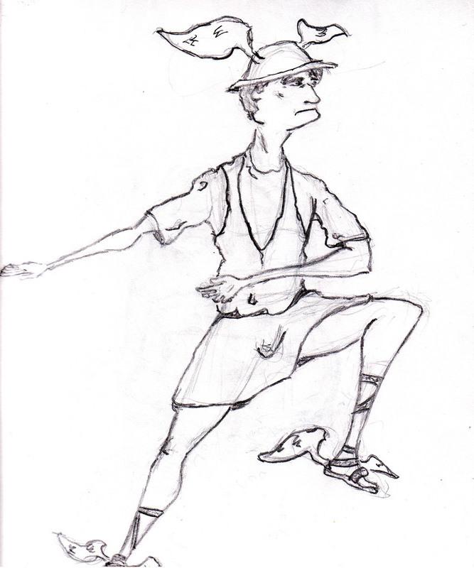 667x800 Hermes Sketch By Td Daimyo