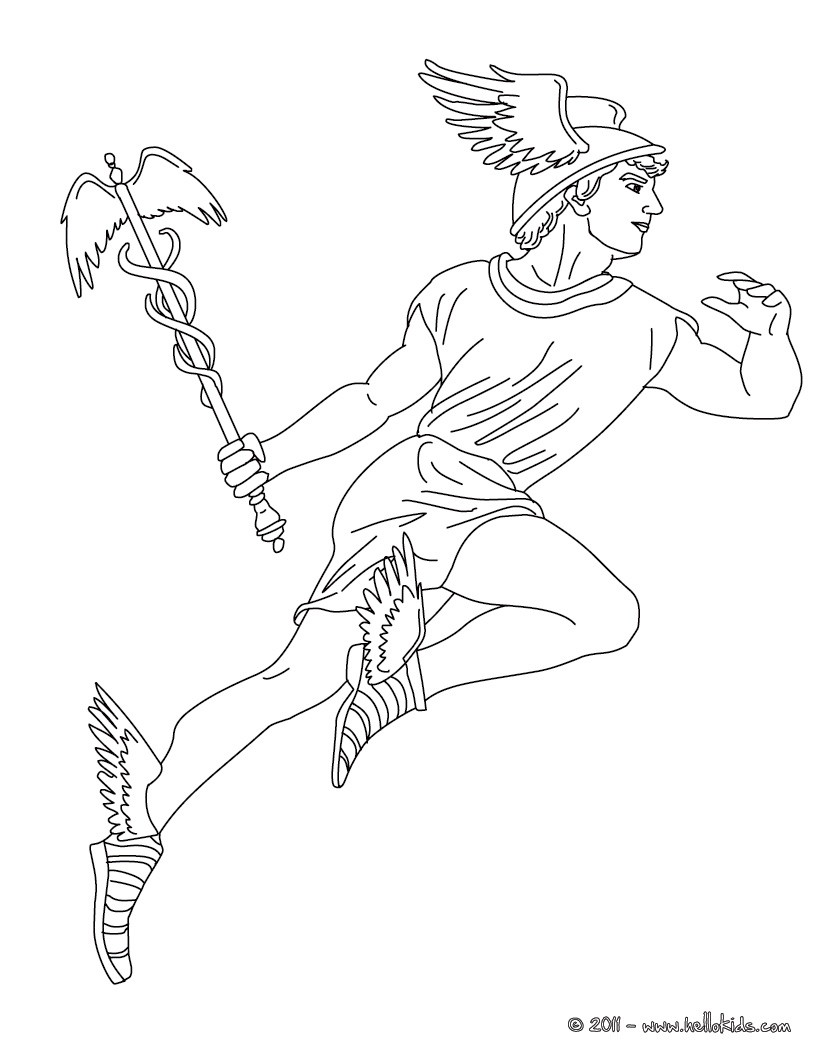 821x1061 Hermes The Greek God Of Herds Coloring Pages