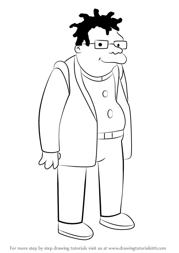 596x842 Learn How To Draw Hermes Conrad From Futurama (Futurama) Step By
