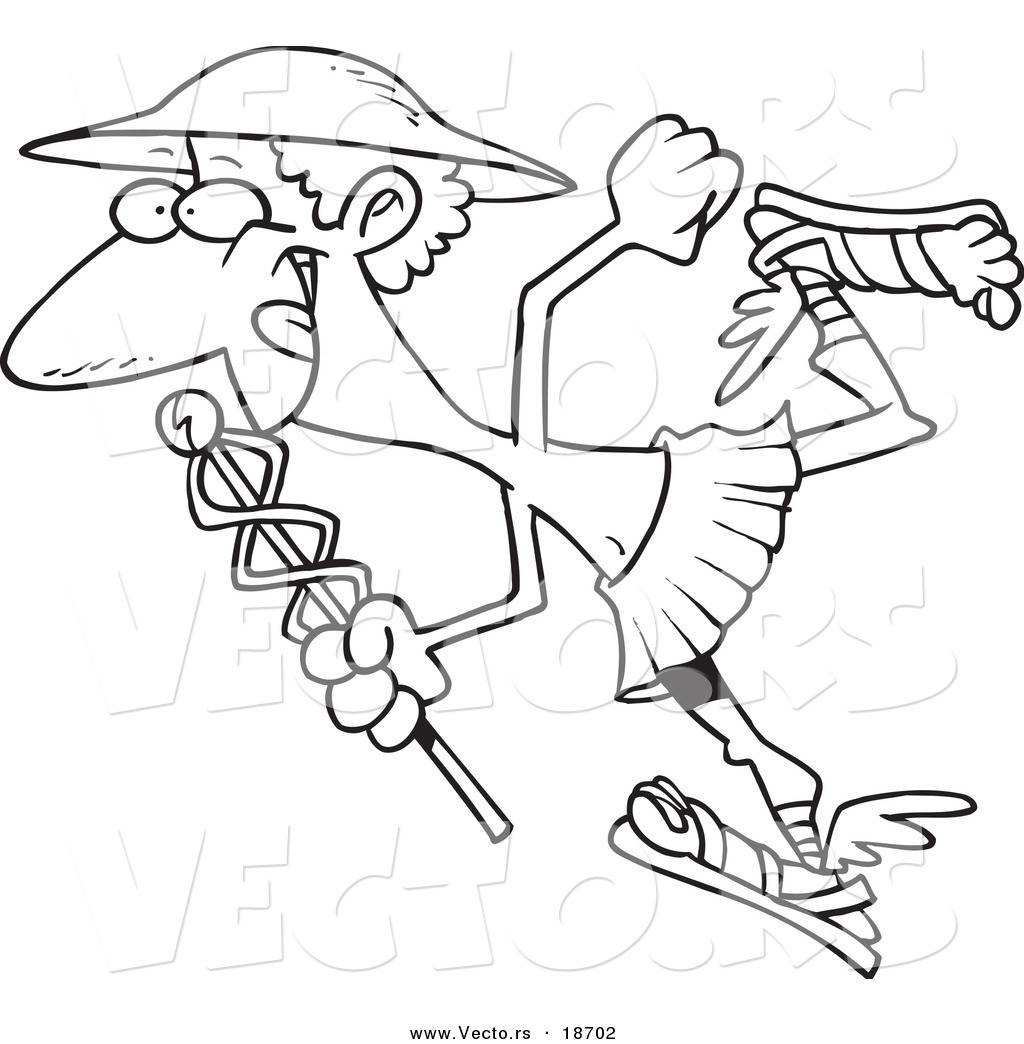 1024x1044 Vector Of A Cartoon Black And White Outline Design Of Hermes