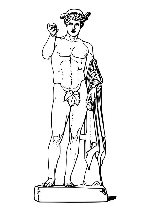 620x875 Coloring Page Hermes