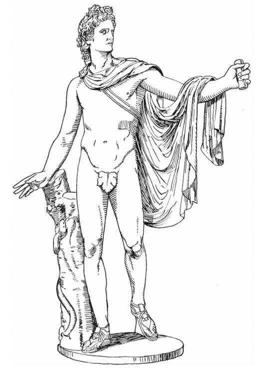 531x750 Coloring Page Apollo, Greek God