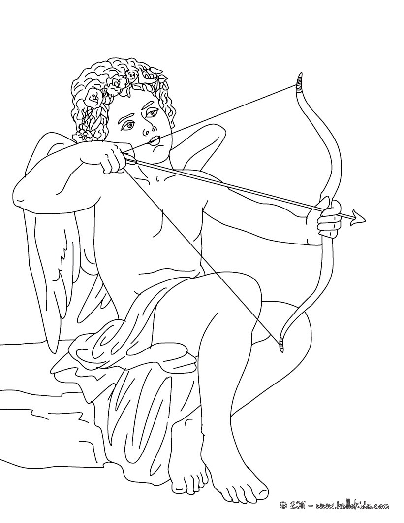 821x1061 Eros The Greek God Of Love Coloring Pages