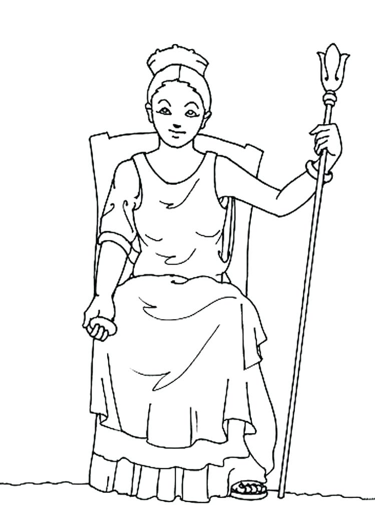 749x1060 Coloring Page ~ Greek Gods Coloring Pages And Goddesses Free Many
