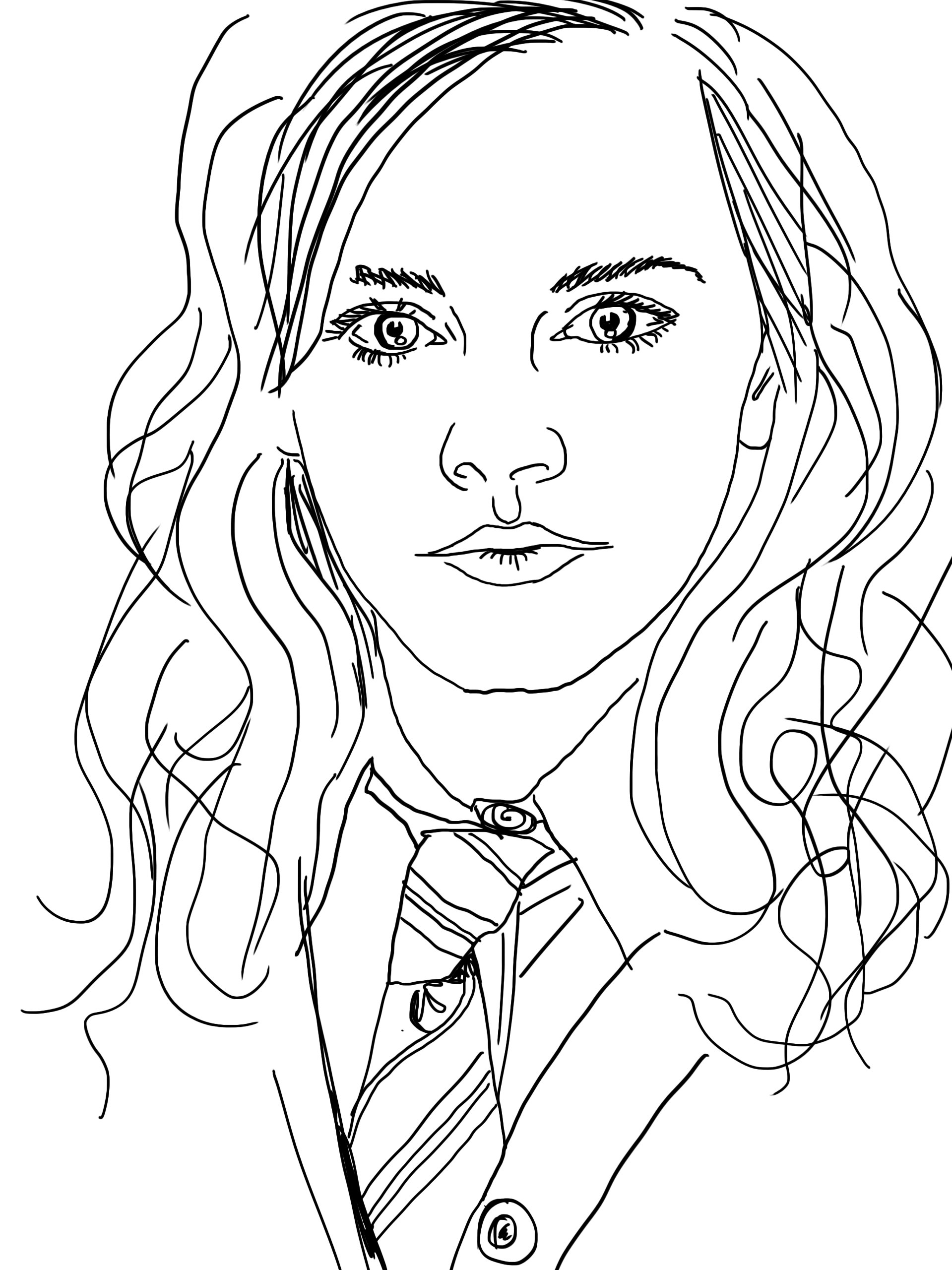 Hermione Granger Drawing at GetDrawings | Free download