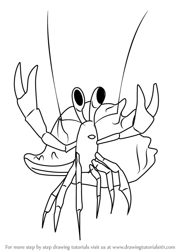 600x846 Learn How To Draw Henry Hermit Crab From Dinosaur Train (Dinosaur