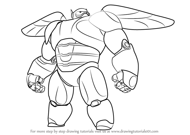 800x567 Learn How To Draw Baymax 2.0 From Big Hero 6 (Big Hero 6) Step By