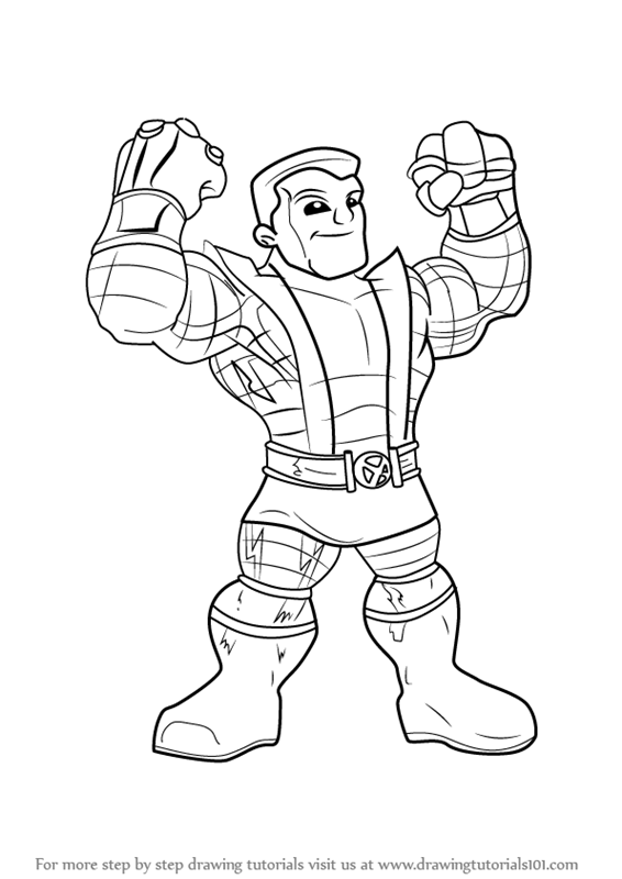 566x800 Learn How To Draw Colossus From The Super Hero Squad Show (The