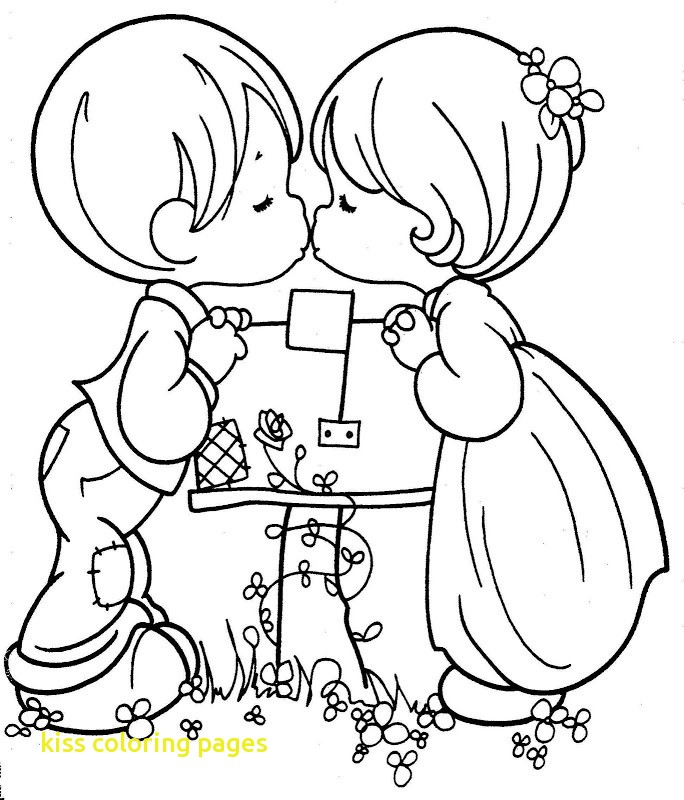 684x800 Kiss Coloring Pages With Precious Moments Coloring Pages Love Kiss