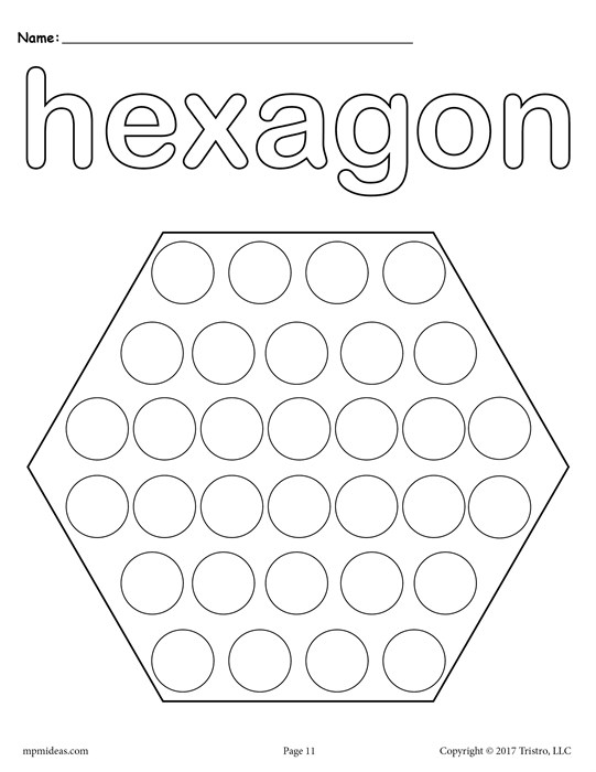 541x700 Free Hexagon Do A Dot Printable