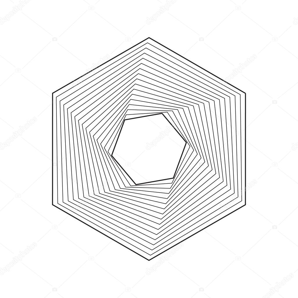 1024x1024 Hexagon, Geometric Frame Stock Vector Kovalto1