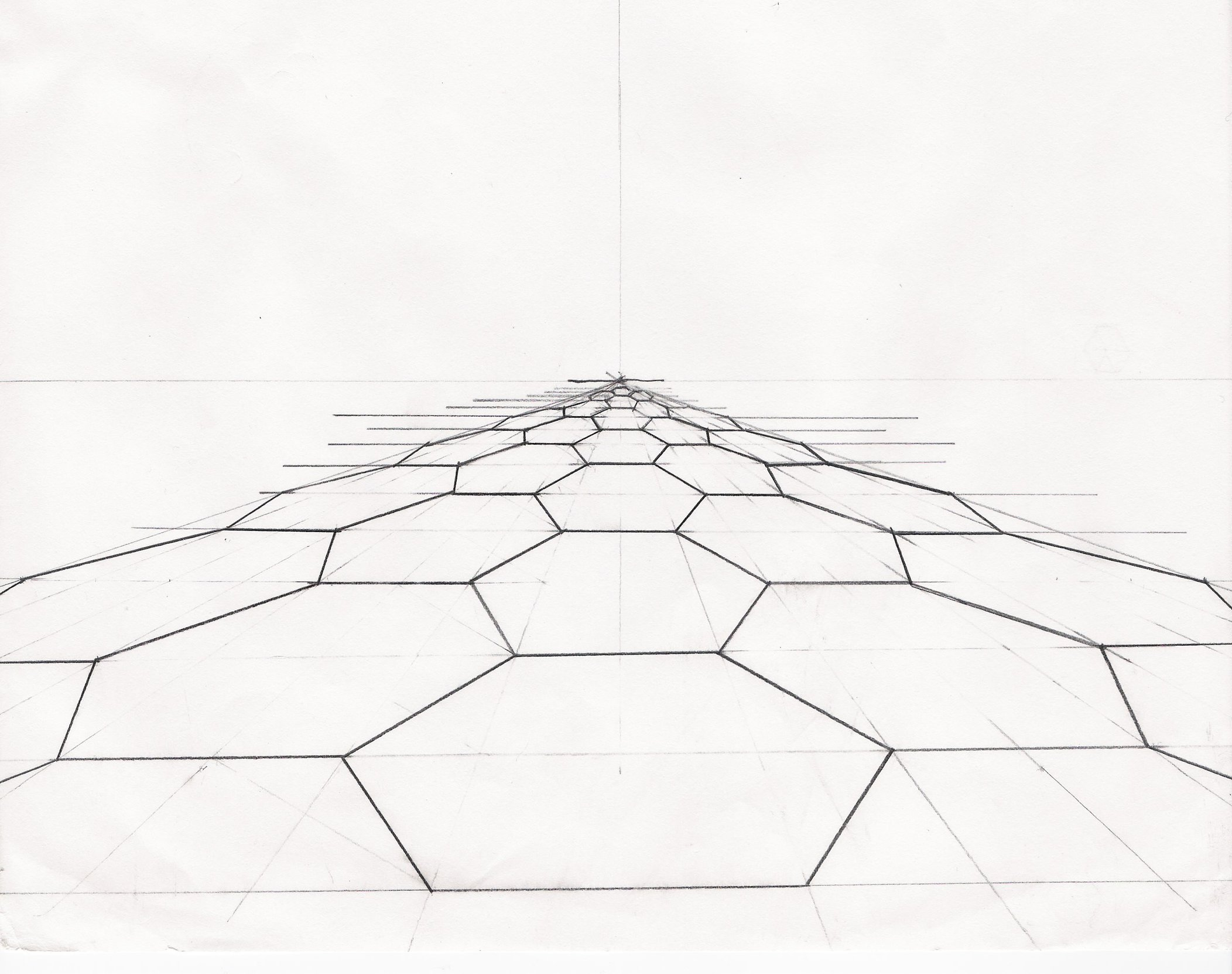 2104x1662 Hexagons In Perspective By Fennecuskitsune