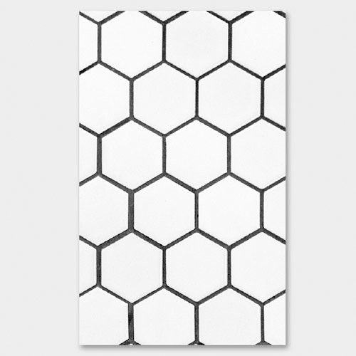 500x500 Paperpack White Hexagon Paperback Plain Notebook