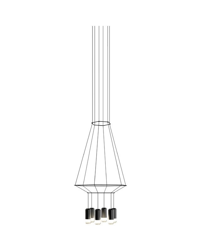 641x800 Vibia Wireflow 3d Hexagon 6 Light Kitchen Island Pendant Amp Reviews