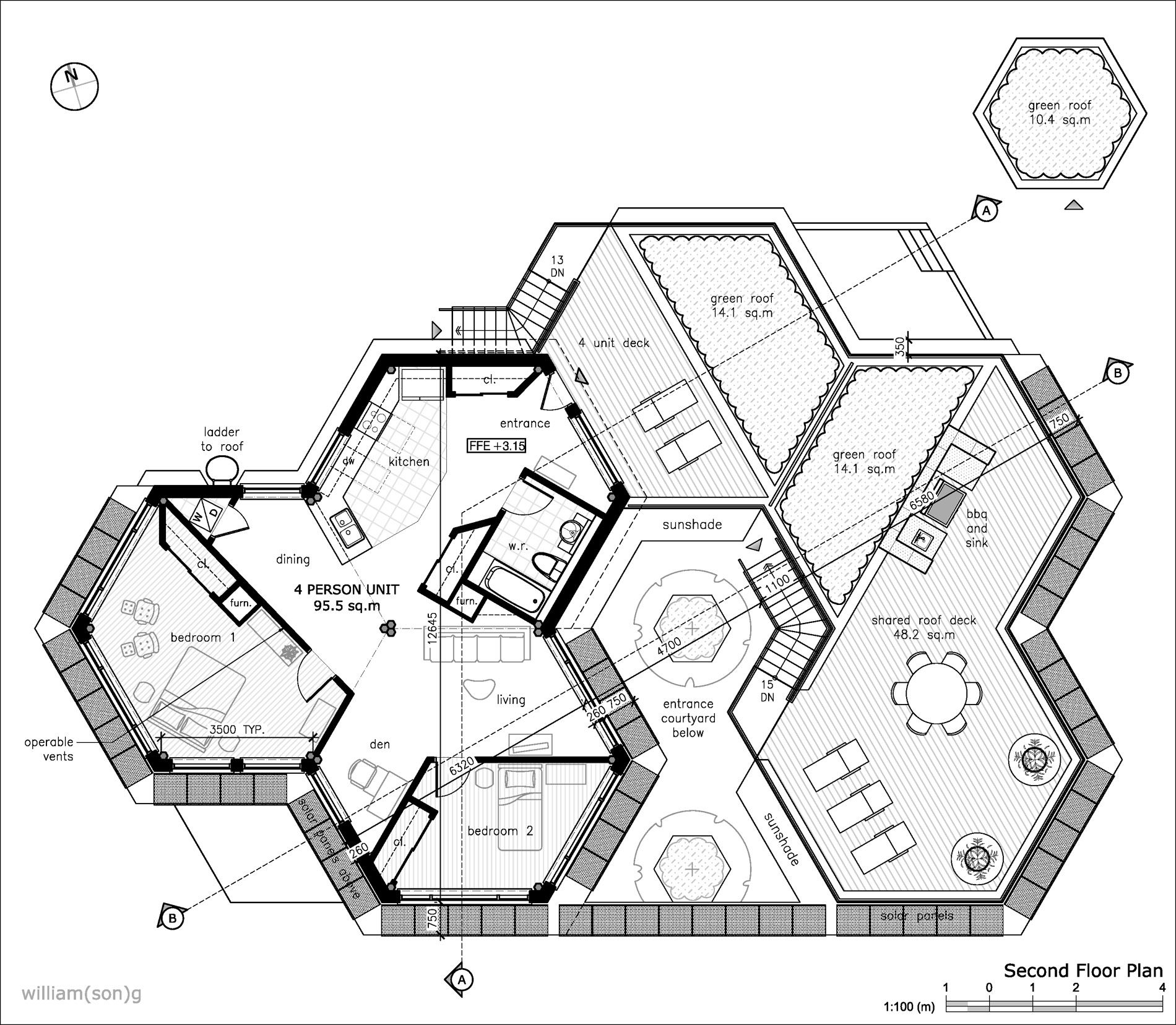 1900x1657 Hexagon House Plans Willian(Son)g
